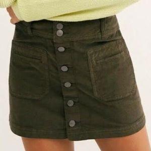 NWOT/ Free People Joanie corduroy skirt